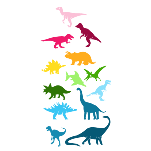 Bunte Dinosaurier