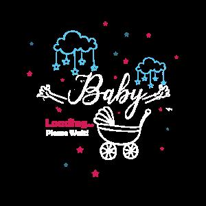 Schwangerschafts Geschenk für Baby loading Party