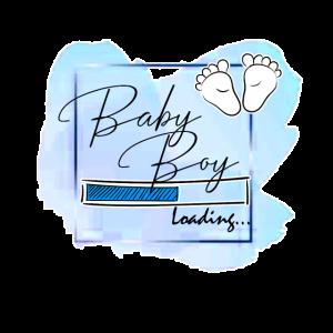 Baby boy loading Geschenk für Babyparty