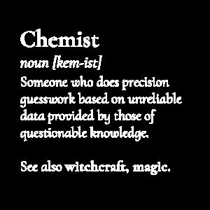 Chemiker Definition Assistent Magier Chemie