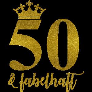 50 und fabelhaft Geburtstag Krone Gold Feier Idee
