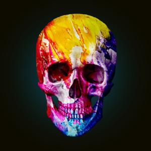 Totenkopf, bunt, skull