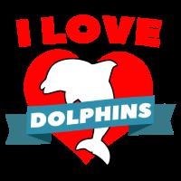 Delphin Liebe Herz Valentinstag Geschenk Retten
