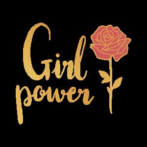 Maedchenpower Blume Feminismus Geschenk