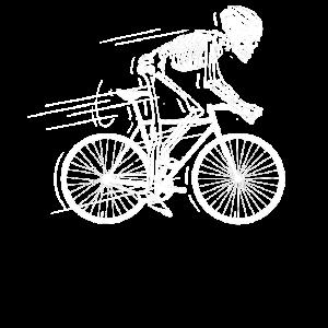 Skelett Knochen Fahrrad Bike Geschenk
