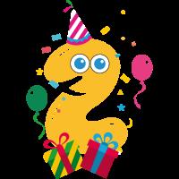 Geschenk 2. Geburtstag oder zwei Jahre Jubiläum