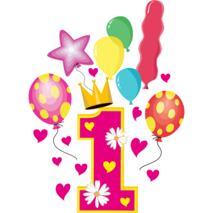 01 1. Geburtstag Luftballons Party