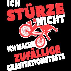 Fahrrad Sturz lustiger Spruch BMX Geschenk BIKE
