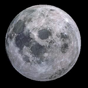 Realistische Darstellung des Mondes der Erdtrabant