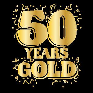 Geburtstag 50 Years gOLD Runder Geburtstag