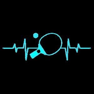Tischtennis Schlaeger Herz Herzschlag
