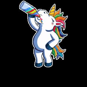Lustiges Bier Einhorn Funny Beer Unicorn Party JGA