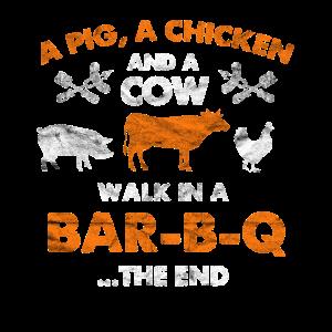 BAR-B-Q Schwein Huhn Kuh Geschenk