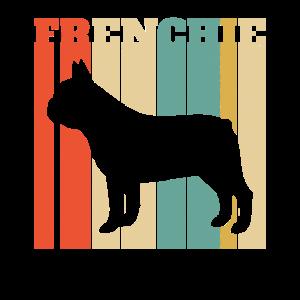 Vintage Retro Frenchie, französische Bulldogge