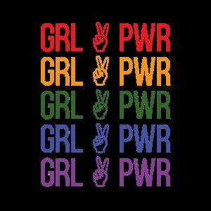 Maedchenpower Regenbogen Feminismus Geschenk