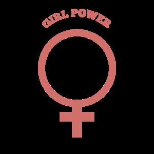 Girl Maedchenpower weiblich Feministin Geschenk