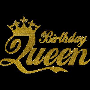 Geburtstag Birthday Queen Königin Party Krone Gold
