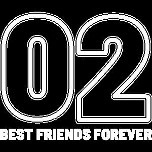02 Best Friends Forever beste Freundinnen Geschenk