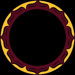 Lotus, Blume, Rahmen, Vorlage, Dein Text, Kreis,