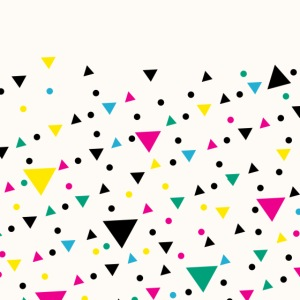 Abstrakte Dreieck Collage Retro Vintage