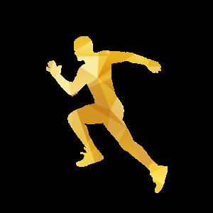 Läufer in Aktion