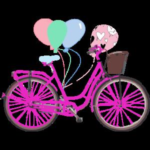 Rad Pink Luftaballons - Radfahrer