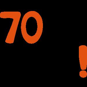 """Geburtstag T-Shirts mit """"70 je oller"""""""