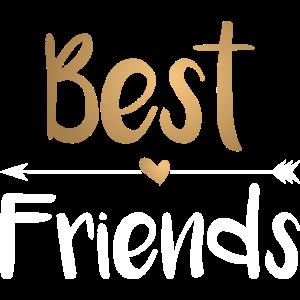 Beste Freunde Best Friends - gold weiß