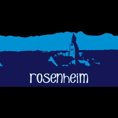 rosenheim - Stadtansicht von Rosenheim mit Blick über die Nikolauskirche in das Vor - Alpen - Land - süd deutschland,rosenheim,oberland,oberbayern,nikolaus,kirche,berge,bayern,alpen,Stadt