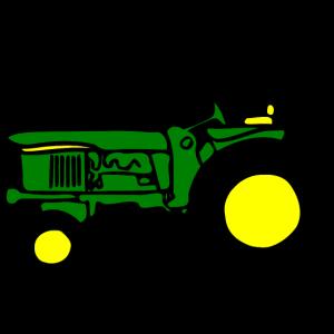 Alter Traktor in JD farben
