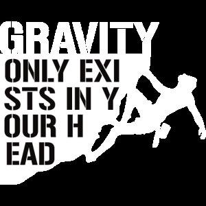 Schwerkraft Klettern