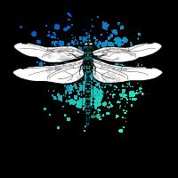 Libelle Illustration Design - Farbspritzer, Kreise