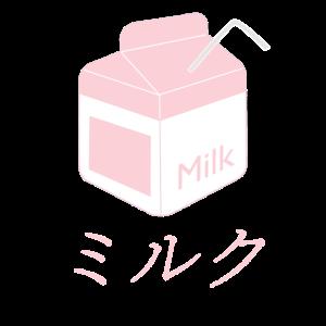 Kawaii Milchkarton-Rosa-Japaner Vaporwave-Geschenk