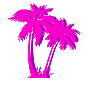 Vaporwave Pink Palm Tree Geschenk Ästhetische Palme
