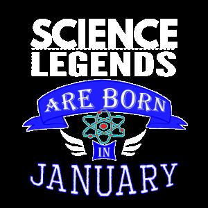 Wissenschaftslegenden werden im Januar Jungen geboren