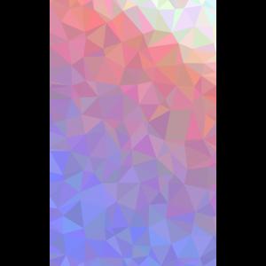 Farbverlauf weiss rot blau Polygone