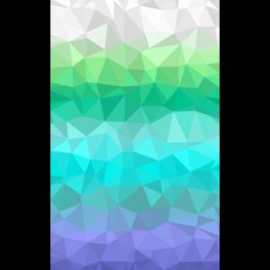 Farbverlauf weiß grün Lila Polygon