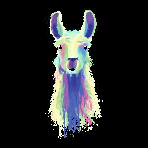 Neon Lama Geschenk Alpaka Llama