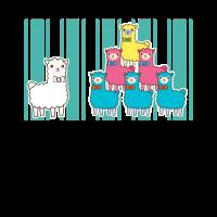 bunte Lamas | Spaß cooles Geschenk