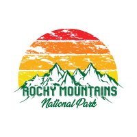 Rocky Mountains National Park Logo Bunt Berge