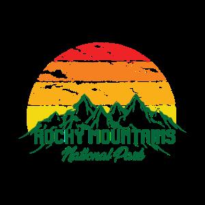 Rocky Mountains National Park Logo Bunt Berge