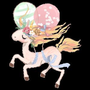 Einhorn mit Luftballons