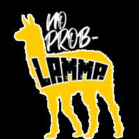 Lama No Problamma Wortspiel Lustig Witz Geschenk