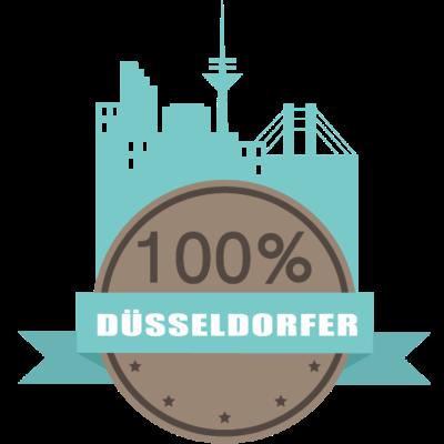 100% Düsseldorfer - Zeig deinen Stolz, als Düsseldorfer bist du schließlich ganz besonders cool! - Düsseldorfer,Düsseldorf