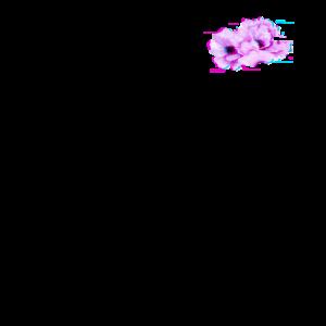 Blumen Glitch Effect Design Ästhetischer Stil Dampf