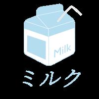 Ästhetischer Milchziegel-Design Vaporwave-Milchkarton