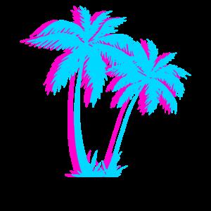 Strand-Vaporwave-Palme-Geschenk ästhetisches tropisches