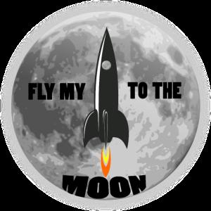 FLY MY TO THE MOON,SPACESHIP,MOND,RAKETE