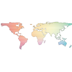 The World In Rainbow Stripes