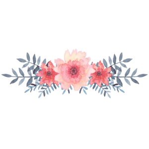Blumenfahne - Aquarell - Rosa